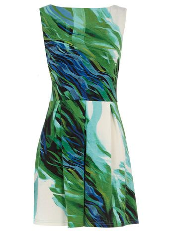 Green aquatics dress Dress for work