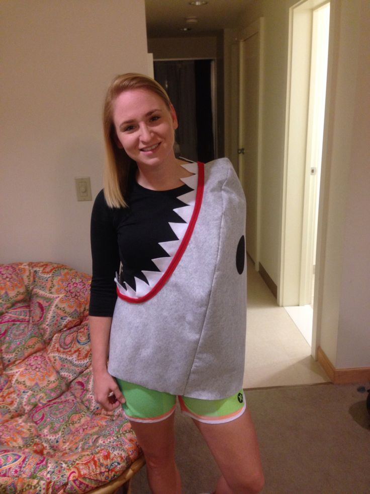 Shark Attack! Halloween 2015. DIY Felt Costume.