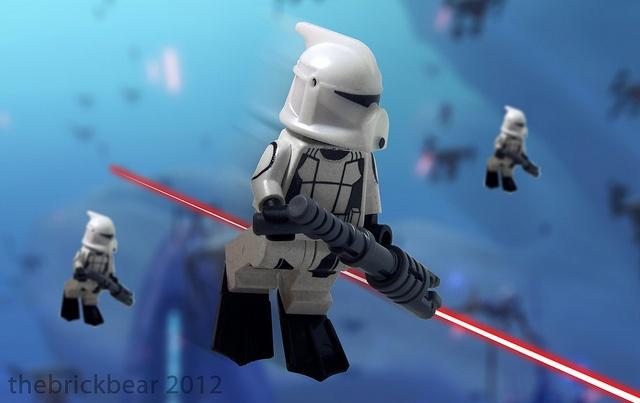 Scuba Trooper Attack by thebrickbear, via Flickr | lego ...