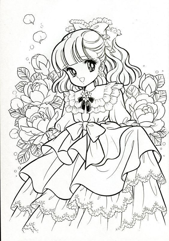 860 best Coloring Pages - Shojo & Anime images on Pinterest