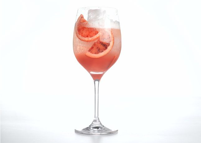 Cava Sangria  This gorgeous drink is great for summer parties. The refreshing aperitif goes down easy, so prep a few pitchers' worth of oranges ahead of time–your guests will thank you.