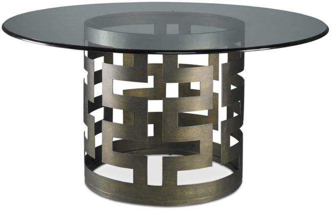 Belgrave Dining Table Glamorous Bronze Metal Base With Beveled