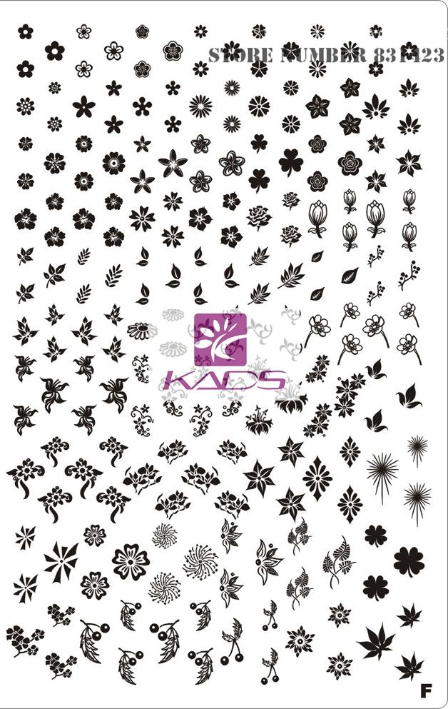 KADS Номер F XL Размер замечательный Лотоса ногтей штамп для украшения искусства ногтя штамповка nail art украшения штамп для дизайн