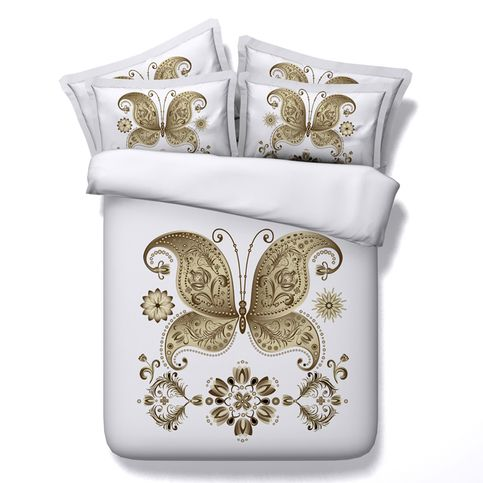 3D HD photographyGolden butterfly bedding set, Super king/King/Queen/Twin Size( 4 Pieces) 100% modal Duvet Cover Set,flat sheet, 4 Pieces,  sold by UHHome. Shop more products from UHHome on Storenvy, the home of independent small businesses all over the world.