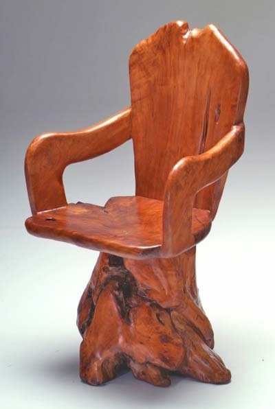 Burl Swivel Chair   Item # I Just Bought Almost This Exact Chair