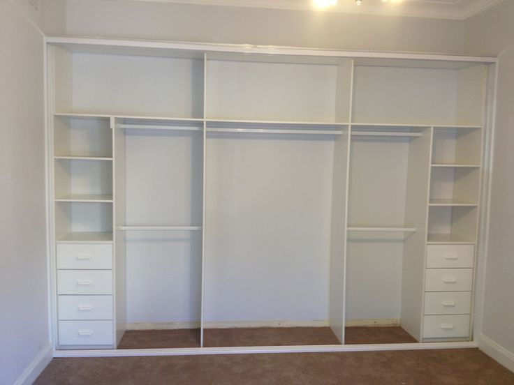 Inside of built in wardrobes (variety of hanging space, shelves and  drawers) Large storage above wardrobe (ideally to go up to ceiling)