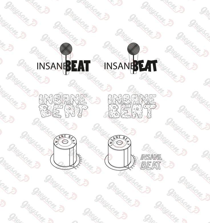 """Logo créer pour un groupe de beatboxer """"InsaneBeat"""" Planche de déclinaison 2"""