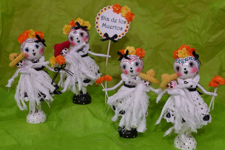 Day of the Dead - Clothespin Dolls | by creatingtreasures