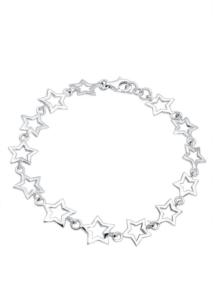 Wunderschönes Armband bestehend aus 15 Sternen (10mm) aus feinem 925er Sterlingsilber, hochglanzpoliert.  Produktdetails: Verschluss: Karabinerhaken, Gewicht: 5,8g, Durchmesser: 10mm, Optik: glänzend,  ...