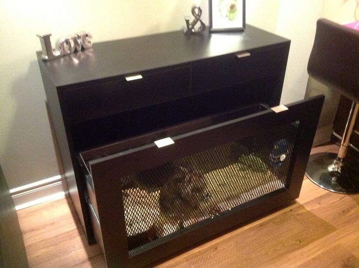 Custom Console Table With A Built In Rabbit Cage Animal
