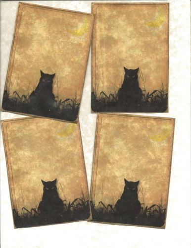 LOT-OF-12-Vintage-look-LABELS-Only-for-Witches-primitive-labels
