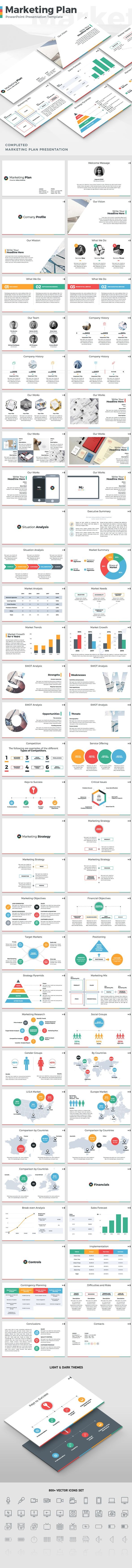 Marketing Plan - PowerPoint Presentation Template (PowerPoint Templates)