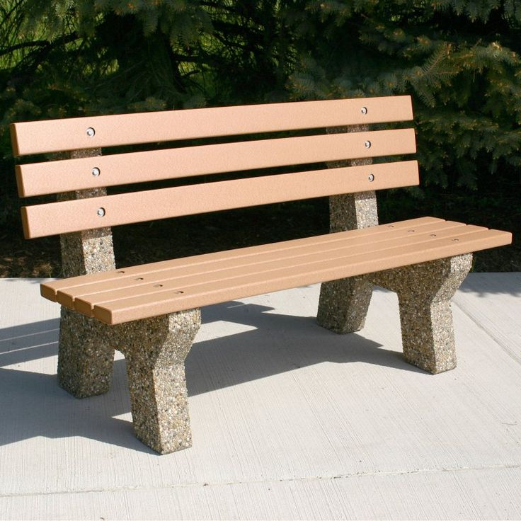 Outdoor Doty & Sons Recycled Plastic Lumber Concrete Bench - 5 ft. - B4151