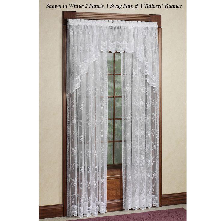 Juliette lace window treatment window treatments lace for Mona lisa shower curtain