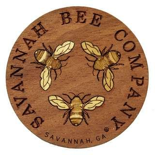 Savannah Bee Company laser-carved wood magnet. Metal love.