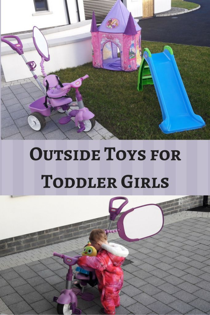 Outdoor toys for toddlers backyards! Toddlers love to have fun outside.