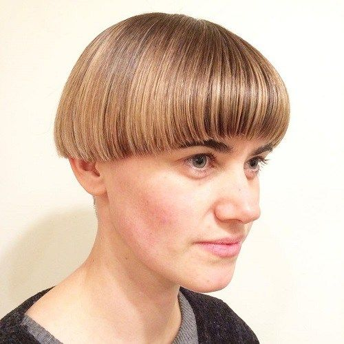 Mushroom Hairstyle the 70s mushroom bob hairstyle be mod pin it from carden 40 Ways To Rock A Bowl Cut Mushroom Haircutbalayage