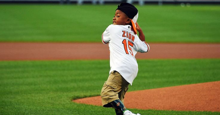 Zion Harvey, the first kid to get a double hand transplant, threw the first pitch at the Baltimore Orioles game on Tuesday, August 2 — watch the video!
