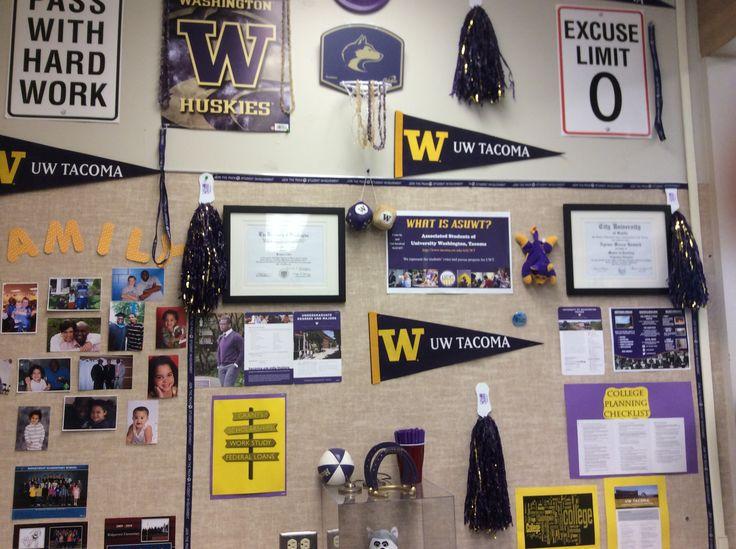 College corner in a WA AVID Elementary classroom.