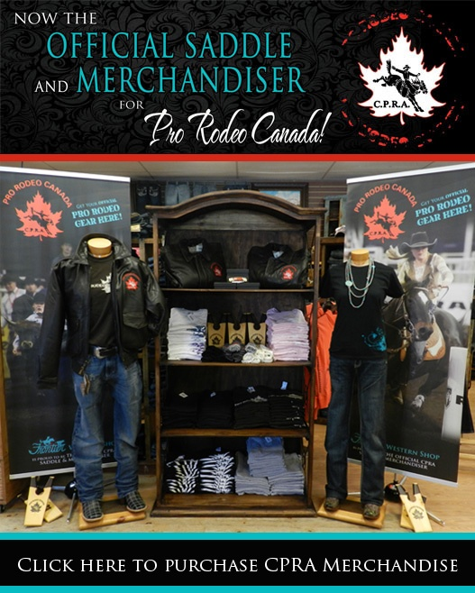 Frontier is the Official Saddle & Merchandiser for Pro Rodeo Canada!