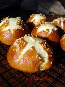 Soft pretzel rolls, bread machine recipes @Sarah Hamilton