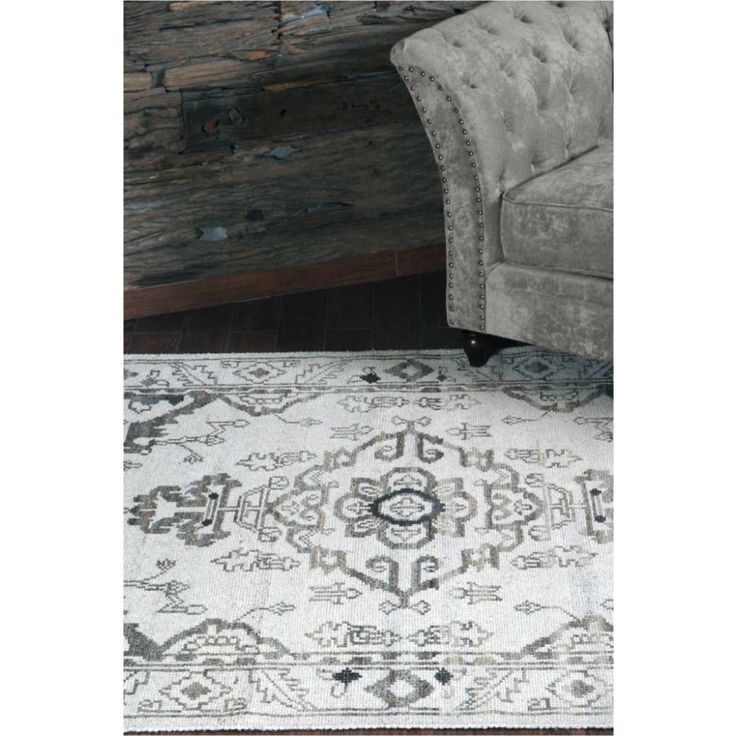 Upcycled Home & Fashion - Handknotted Wool Rug