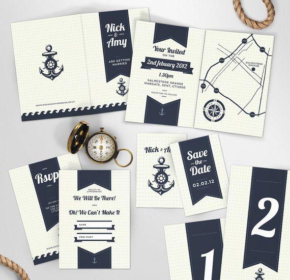 maritim inspirierte Einladungen