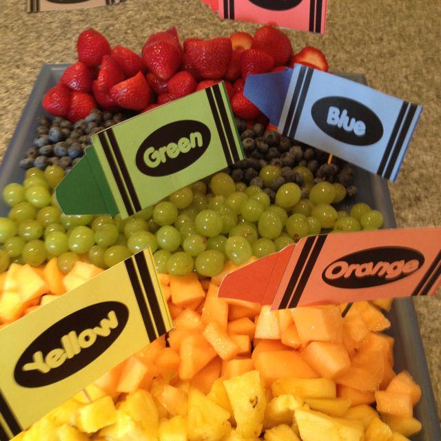 Fruit tray for a kindergarten teacher gift shower