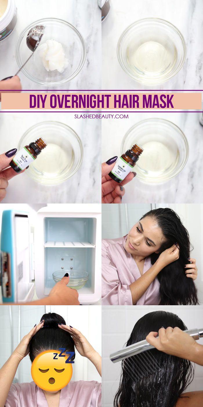 DIY Overnight Hair Mask for Fall Dandruff & Dryness