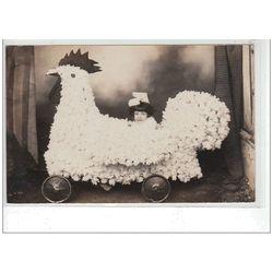 SAINT GERAND LE PUY : carte photo de la fête du Printemps et de la Kermesse vers 1930 - très bon état