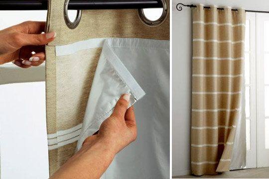 En plus d'être décoratifs les rideaux isolants…