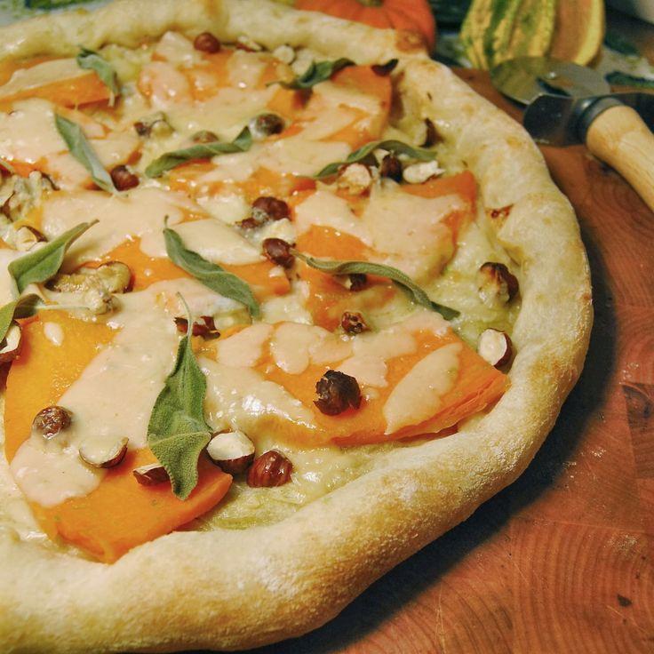 Pumpkin & Sage #Pizza: Roasted fairytale pumpkin, crispy roasted sage ...