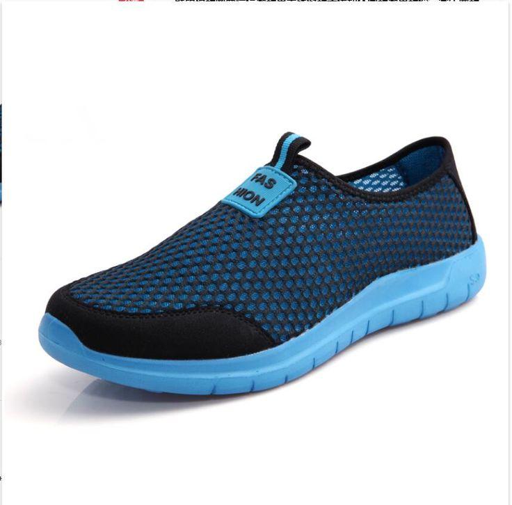 2016 летний стиль мужчины / женщины мужской обуви ленивый сетевые обувь человек ноги упаковка воздухопроницаемой сеткой обувь