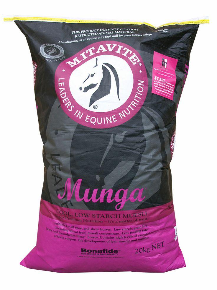 Munga® | Mitavite #mitavite #horsefeeds #horses #equine #equestrian #munga #bonafide #developstopline #repairsmuscle #noaddedgrains #coolfeed #lowstarch #muesli