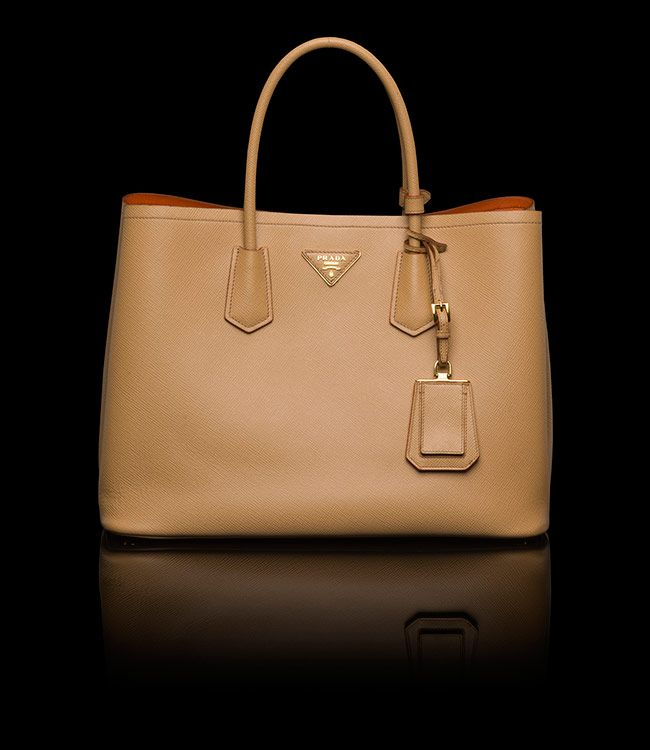 Prada Double Bag. Contrasted colours, flap pocket, extremely ...