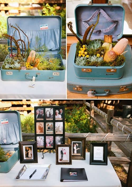 Since I love old suitcases and trunks I LOVE those pieces!