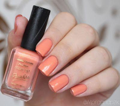 """Esmalte """"Laranja Coral""""   Swatches da Coleção """"Paradise"""" da Panvel Make up   Esmaltes para o Verão   Orange nails   Unhas Coral   by @morganapzk"""