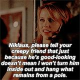 """Her morbid humor is just so funny , i love the fact that she said klaus she will kinda kill lucien and she is the one whose actions helped to kill him for , she killed davina and stole power from the ancestors just to have enough power to put down the """"creepy friend"""""""