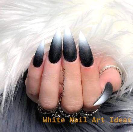 19+ Ideas Nails Design Black And White Coffin