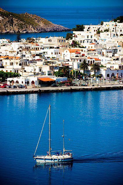 The harbor of Patmos, Skala, Greece