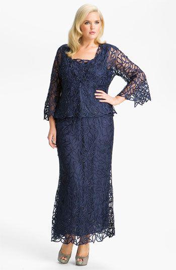 Modelos de vestidos Plus Size para festasColors Dresses, Soulmate 3 Piece, Silk Crochet, Grooms Dresses, Mom Dresses, Crochet Skirts, 3 Piece Silk, Skirts Sets, Lace Gowns