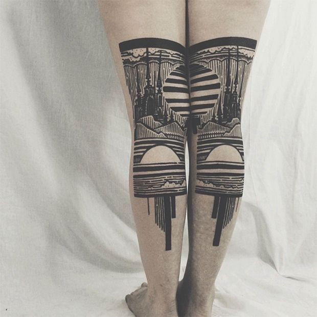 #tattoofriday - Thieves of Tower e suas tatuagens dark e góticas;