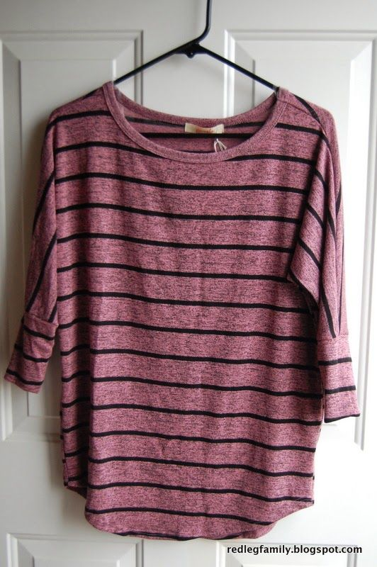 Stitch Fix #12 - Corinna Striped Dolman Top by Pomelo