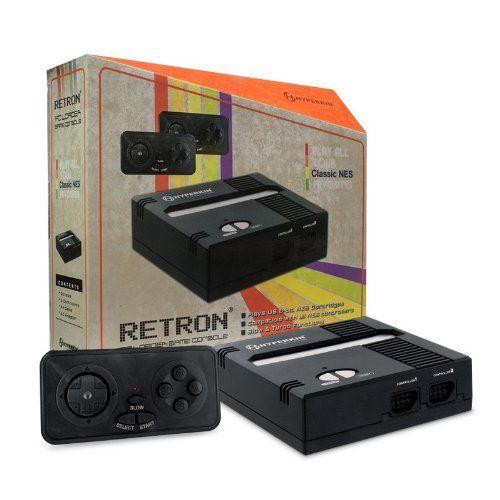 Console Retron Noire Compatible Jeux Nintendo Nes: Console Retron 1 pour jeux Nintendo NES NTSC (version U.S.) Insertion des cartouches de…