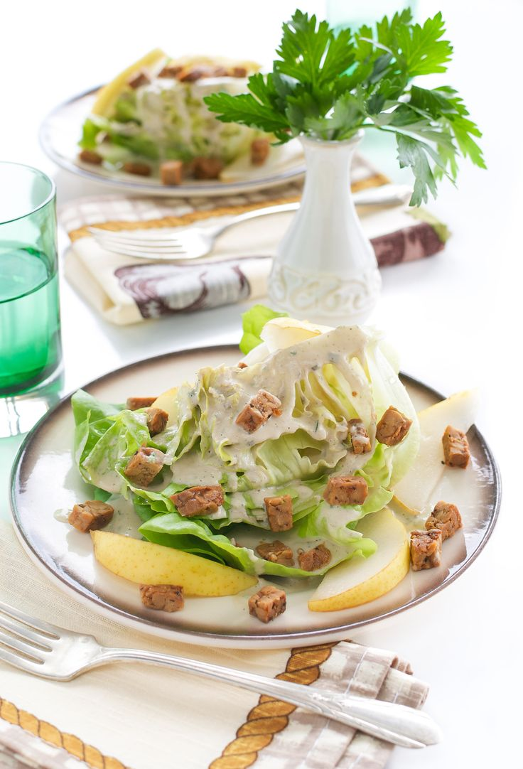 Butter Lettuce Wedge Salad with Creamy Peppercorn Dressing + Eat Crave Heal Cookbook Giveaway