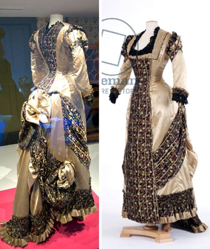 Princess-line silk satin dress, ca. 1870s. Fashion Museum, Bath; Bridgeman Art Archive; sensibility.com