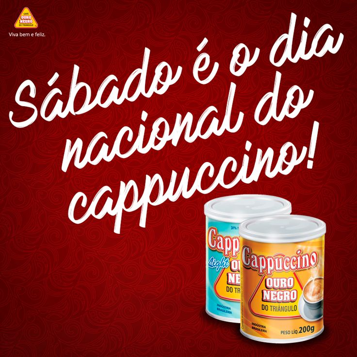 PASSE NO MERCADO E LEVE CAPPUCCINO OURO NEGRO PARA UM FIM DE SEMANA HARMONIZADO!  O Cappuccino OURO NEGRO é elaborado à base de café, leite e cacau. Seu sabor e cremosidade harmonizam muito bem com momentos especiais, como estar com a família ou com os amigos reunidos em casa.  👍 http://cafeouronegro.com.br/vivabemefeliz  #vivabemefeliz #café #caféouronegro #cappuccino