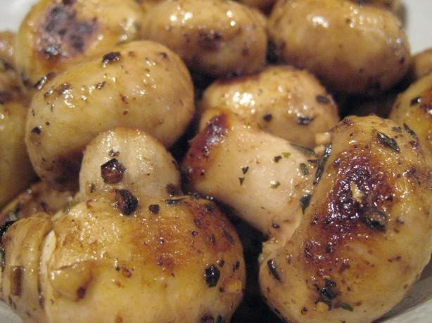 Grilled Marinated Mushrooms - no salt