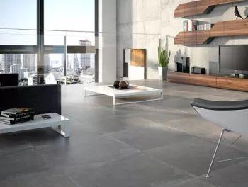 Dark Grey Cement Effect Porcelain Tiles