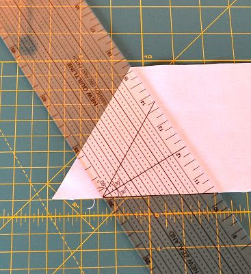 How to cut equilateral triangles - a tutorial